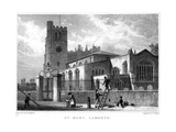 Church of St Mary, Lambeth, London, 1831 Giclee Print by Thomas Higham