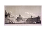 The University of London, Gower Street, St Pancras, London, C1835 Giclee Print by Thomas Higham