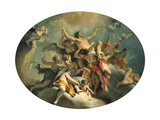 The Glorification of St Sebastian, Late 17Th/Early 18th Century Giclée-tryk af Sebastiano Ricci