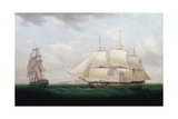 Two East Indiamen Off a Coast, Thomas Whitcombe, C1850 Giclee Print by Thomas Whitcombe