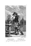 Gardener Smelling a Carnation or Pink (Dianthu), C1750 Giclee Print by Thomas Kitchin