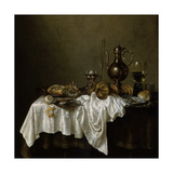 Breakfast with a Lobster, Dutch Painting of 17th Century Giclée-Druck von Willem Claesz Heda