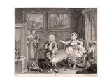 In High Keeping by a Jew, Plate II of the Harlot's Progress, 1732 Giclee Print by William Hogarth