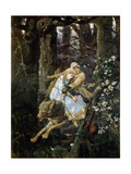 Tsarevich Ivan Riding the Grey Wolf, 1889 Lámina giclée por Viktor Mihajlovic Vasnecov