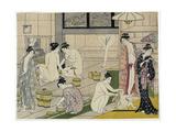 The Bathhouse Women, 1790S Giclee Print by Torii Kiyonaga
