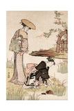 The Iris Garden, C1775-1815 Giclee Print by Torii Kiyonaga