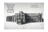 North View of Westminster Abbey, London, 1654 Lámina giclée por Wenceslaus Hollar