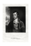 Robert Burns, Scottish Poet, 19th Century Giclee Print by W Holl