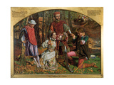Valentine Rescuing Sylvia from Proteus, 1851 Giclee Print by William Holman Hunt