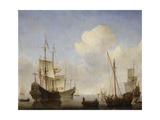 The Dutch Squadron at the West African Coast, 1660s Giclée-Druck von Willem Van De Velde The Younger