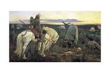 A Knight at the Crossroads, 1898 Giclee-trykk av Viktor Mihajlovic Vasnecov