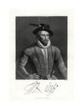 Sir Walter Raleigh, 19th Century Giclee Print by W Holl