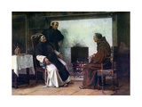 A Good Story, 1881 Gicléetryck av Walter Dendy Sadler