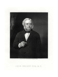 John Bright, British Radical and Liberal Statesman, 19th Century Giclee Print by W Holl