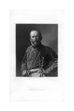 Giuseppe Garibaldi, Italian Patriot and Soldier of the Risorgimento Giclee Print by W Holl