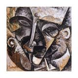 Dynamism of a Man's Head, 1914 Giclee-trykk av Umberto Boccioni