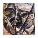 Dynamism of a Man's Head, 1914 Impressão giclée por Umberto Boccioni
