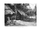 A Bushman's Home, Australia, 1886 Giclee Print by William Thomas Smedley