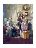 Sweethearts, 1892 Gicléetryck av Walter Dendy Sadler