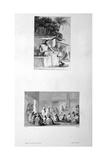 Making Macaroni and Military Meeting, 1802 Giclée-tryk af Vivant Denon