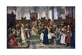 Jan Hus before the Council of Constance, 1415 Lámina giclée por Vaclav Brozik