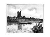 The Royal Tour in Ireland, Visit to Ross Castle, Killarney, 1887 Reproduction procédé giclée par William Barnes Wollen