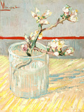 Sprig of Flowering Almond Blossom in a Glass, 1888 Stampa giclée di Vincent van Gogh