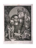 The Bruiser, C. Churchill ... in the Character of a Russian Hercules ..., 1763 Giclée-tryk af William Hogarth