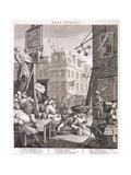 Beer Street, 1751 Giclée-tryk af William Hogarth