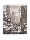 Calle de la cerveza 1751 Lámina giclée por William Hogarth