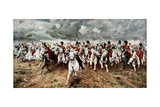 Scotland for Ever, the Charge of the Scots Greys at Waterloo, 18 June 1815 Giclee-trykk av Elizabeth Butler
