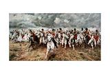 Scotland for Ever, the Charge of the Scots Greys at Waterloo, 18 June 1815 Gicléedruk van Elizabeth Butler