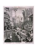 Gin Lane, 1751, på engelsk Giclée-tryk af William Hogarth