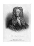 Sir Isaac Newton, English Mathematician, Astronomer and Physicist Reproduction procédé giclée par  Freeman