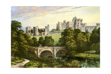 Alnwick Castle, Northumberland, Home of the Duke of Northumberland, C1880 Giclee Print by Benjamin Fawcett