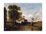 Through a Ford, 19th Century Giclee Print by William Shayer