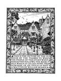 Kelmscott Manor, Gloucestershire, Frontispiece to News from Nowhere, C1892 Lámina giclée por William Morris