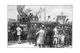 The Chartist Demonstration on Kennington Common, 1848 Reproduction procédé giclée par William Barnes Wollen