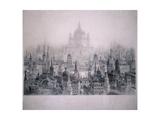 Dream City of Christopher Wren's Buildings, 1842 Giclee-trykk av William Richardson