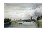 Paris Seen from Afar, C1835-1900 Giclee Print by William Callow