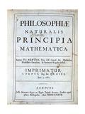 Title Page of Newton's Philosophiae Naturalis Principia Mathematica, 1687 Lámina giclée