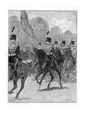 Review of the 1st Yeomanry Brigade by the Queen in Windsor Park, 1894 Reproduction procédé giclée par William Barnes Wollen