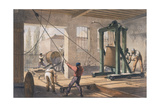 Telegraph Wire at the Greenwich Works, C1865 Giclee Print by Robert Dudley