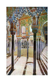 Court of the Lions, the Alhambra, Granada, Andalusia, Spain, C1924 Reproduction procédé giclée