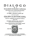 Title Page of Dialogo, by Galileo, 1632 Giclee Print