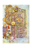 Opening Words of St Matthew's Gospel Liber Generationes, from the Book of Kells, C800 Giclée-tryk