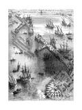 Siege of La Rochelle, France, 1627 (1882-188) Gicléedruk