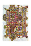 Opening Words of St Luke's Gospel Quoniam from the Book of Kells, C800 Giclée-tryk