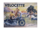 Poster Advertising Velocette Motor Bikes, 1936 Giclée-tryk