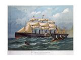 Pss 'Great Eastern on the Ocean, 1858 Reproduction procédé giclée par Edwin Weedon